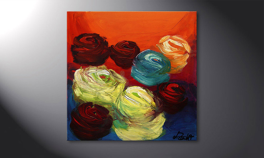 Colors of Roses 70x70x2cm Tableau