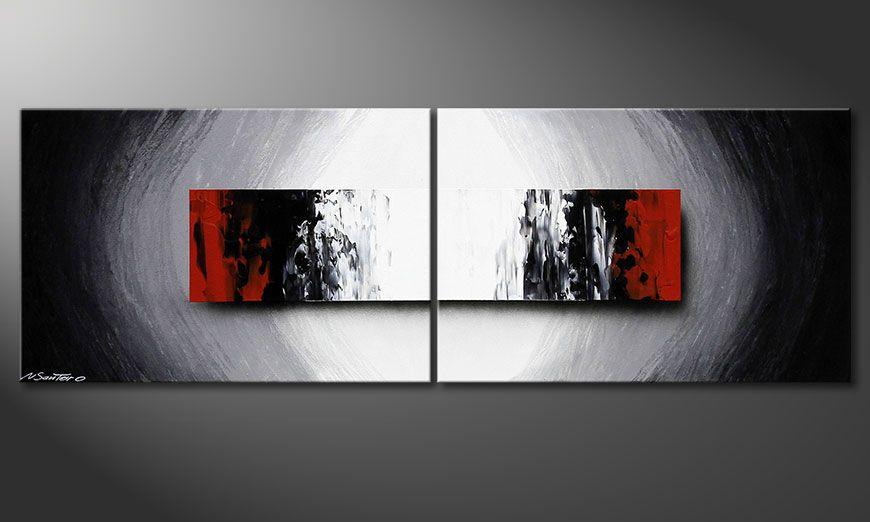 La peinture 100% fait main Deep Space 120x40x2cm