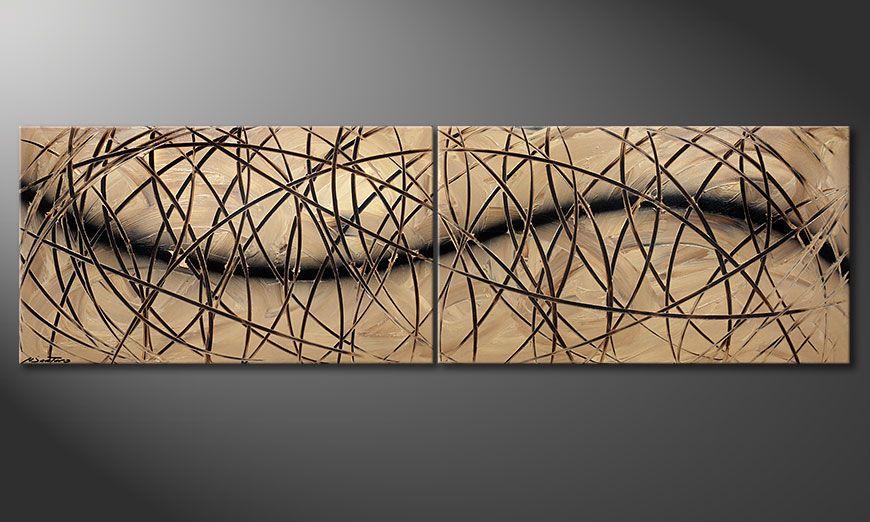 La peinture Snow Tempest 240x70x2cm