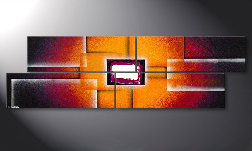 La peinture Sunrise Construction 200x60x2cm