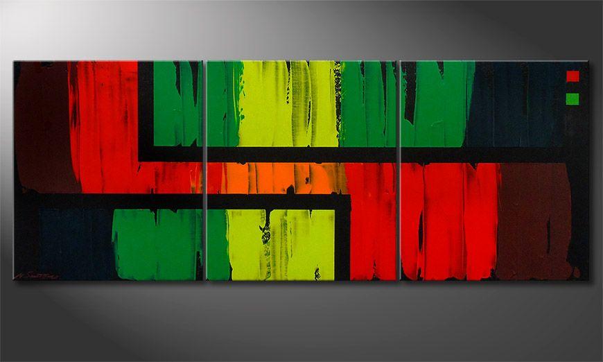 La peinture Urban Jungle 180x70x2cm