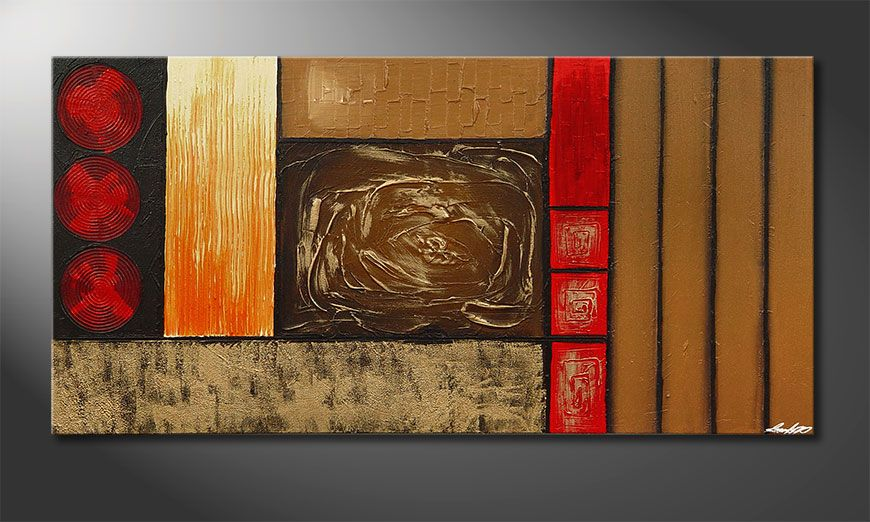 La peinture XXL Stoned Roses 140x70x2cm