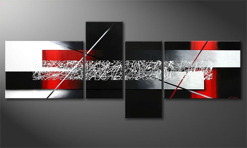 La peinture XXL Sudden Inspiration 240x100x2cm