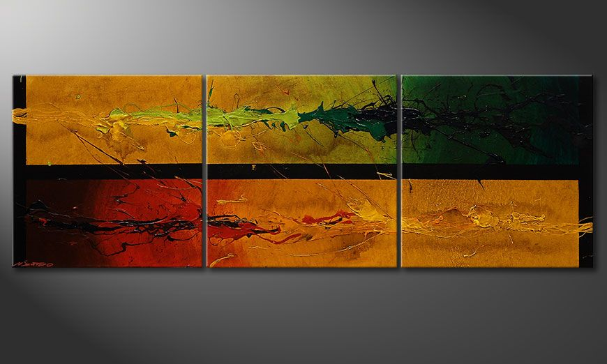 La peinture contrastée Blowing Elements 150x50x2cm