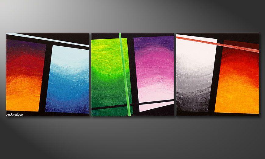 La peinture faite main Wave of Colors 150x50x2cm