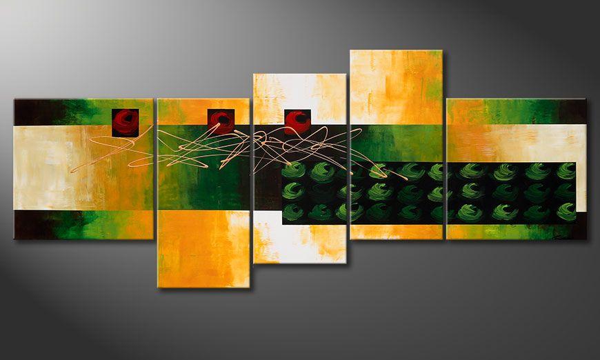 La peinture grand format quiet love 240x100cm tableaux xxl - Tableau peinture grand format ...