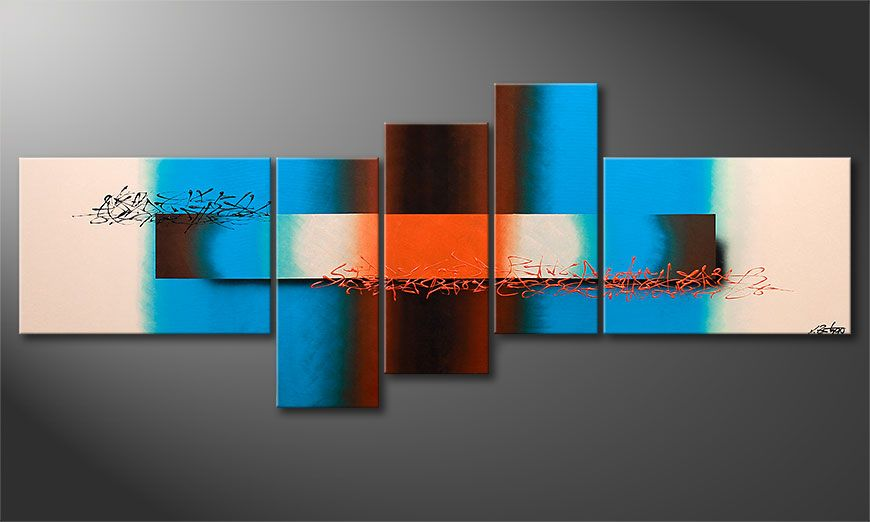 La peinture grand format Summer Spirit 230x90x2cm