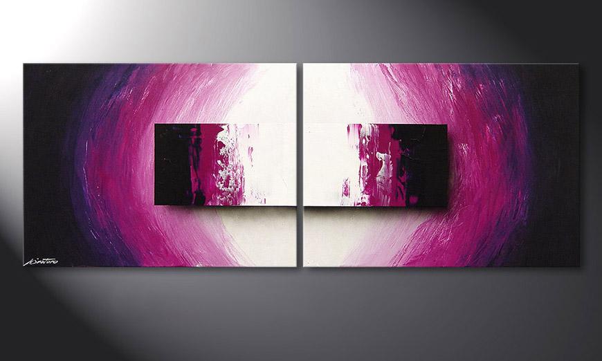 La peinture moderne Purple Rain 160x60x2cm
