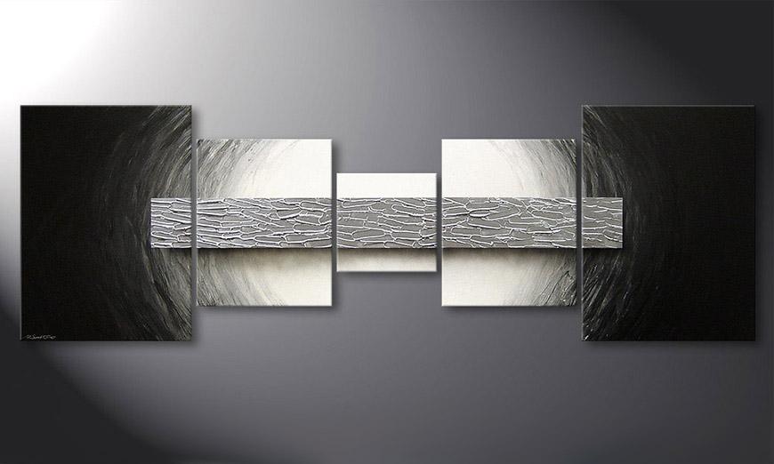 La peinture moderne Silver Bar 210x70x2cm