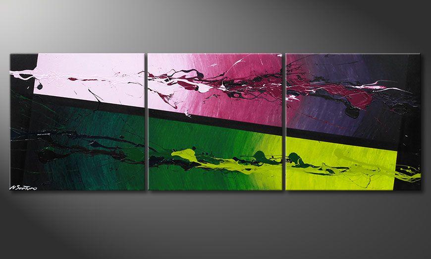La peinture moderne Tropic Splash 150x50x2cm