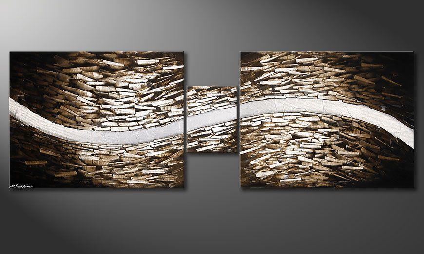 La peinture pour salon Clear River 230x80x2cm
