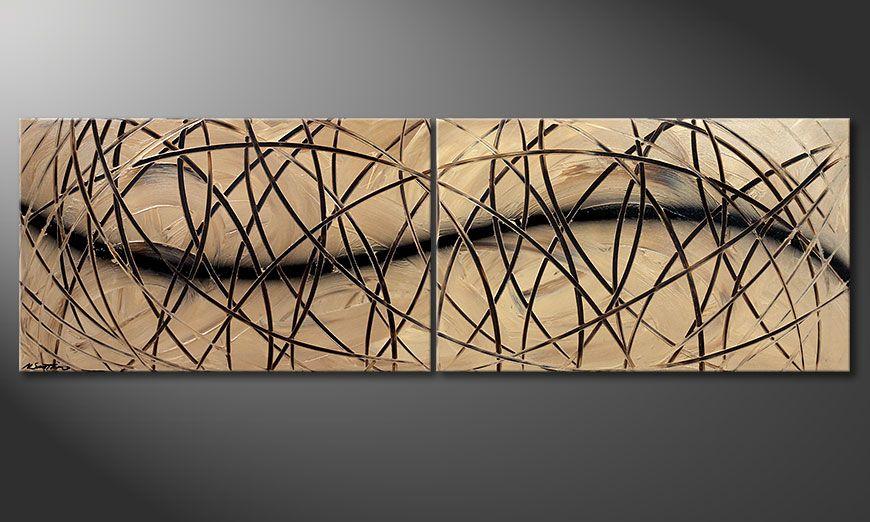 La toile à l'acrylique Snow Tempest 200x60x2cm