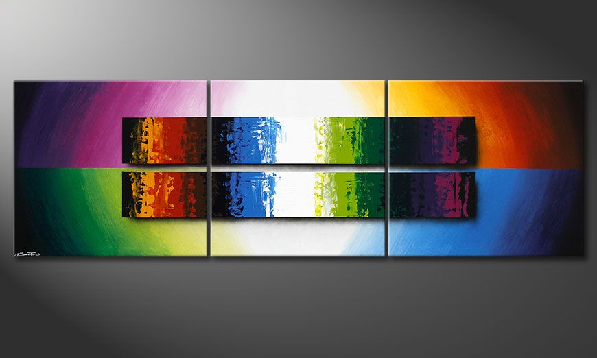 La toile XXL Expression of Colours 260x80x2cm