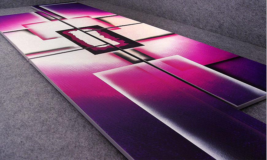 La toile XXL Purple Sun 250x80x2cm