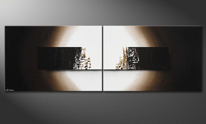 La toile  XXL peinte à la main Light Rain 240x80x2cm
