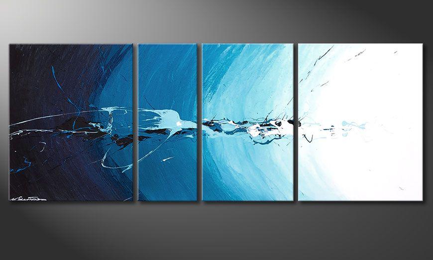 La toile bleue Water Splash 130x50x2cm