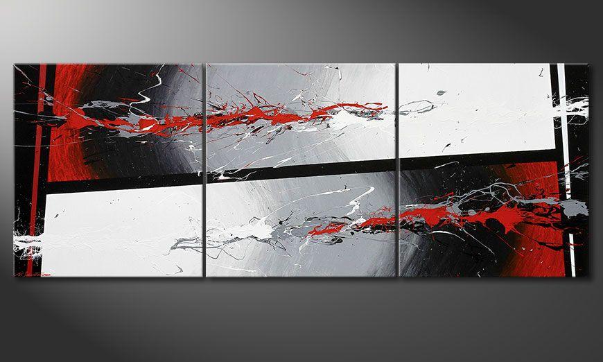 La toile format XXL Powerful Contrast 240x90x2cm