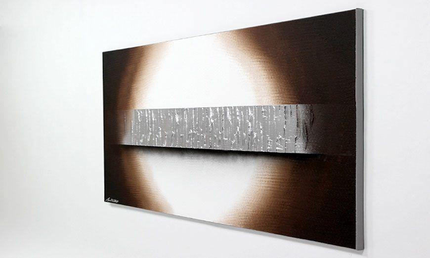 la toile grand format silver waves 140x70cm tableaux xxl. Black Bedroom Furniture Sets. Home Design Ideas