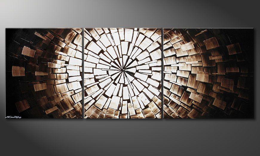 La toile moderne Center of Babylon 190x70x2cm