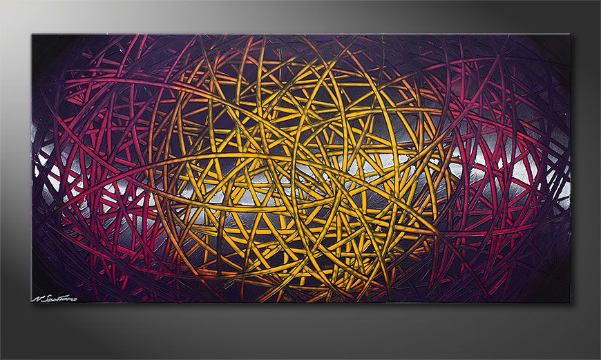 La toile moderne XXL Indian Moonlight 140x70x2cm