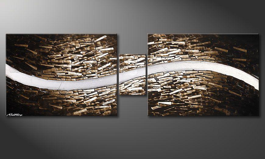La toile montée sur châssis Clear River 180x60x2cm