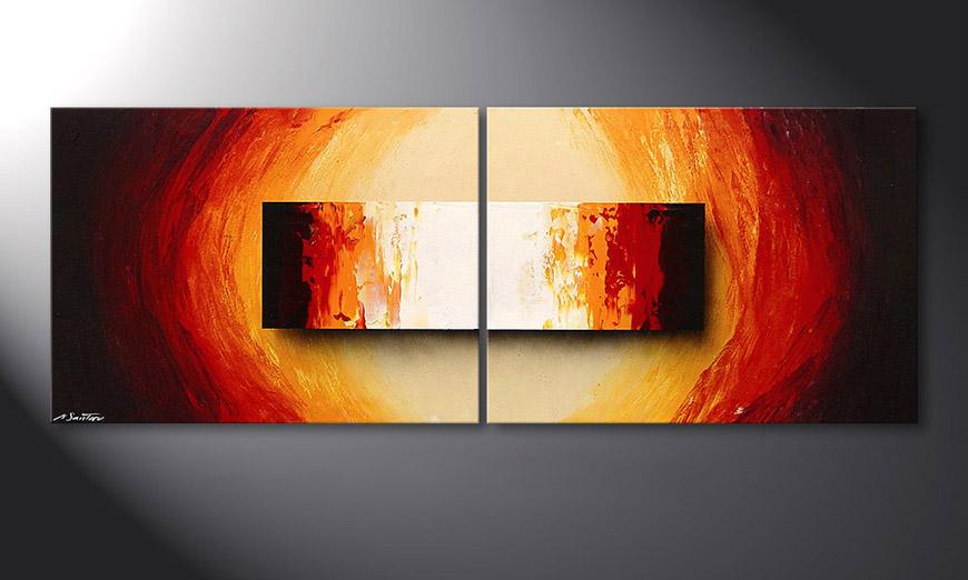 La toile montée sur châssis Liquid Fire 160x60x2cm