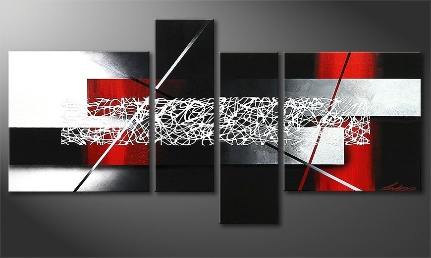 La toile petite taille Sudden Inspiration 130x65x2cm