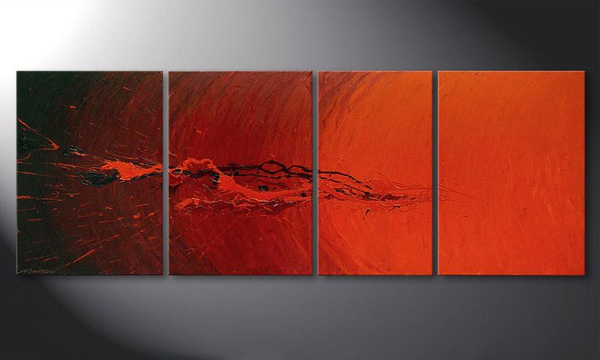 La toile pour salon Splash of Glow 190x70x2cm