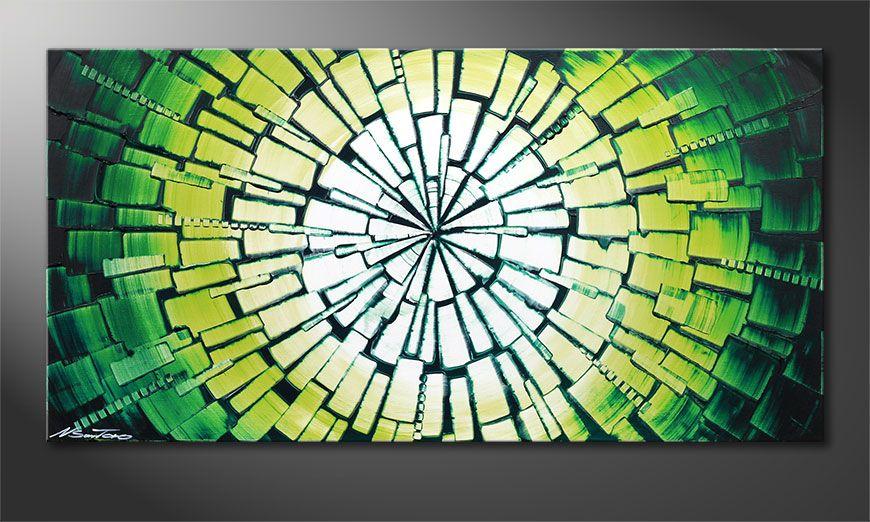 Le beau tableau mural Center of Jungle 100x50x2cm