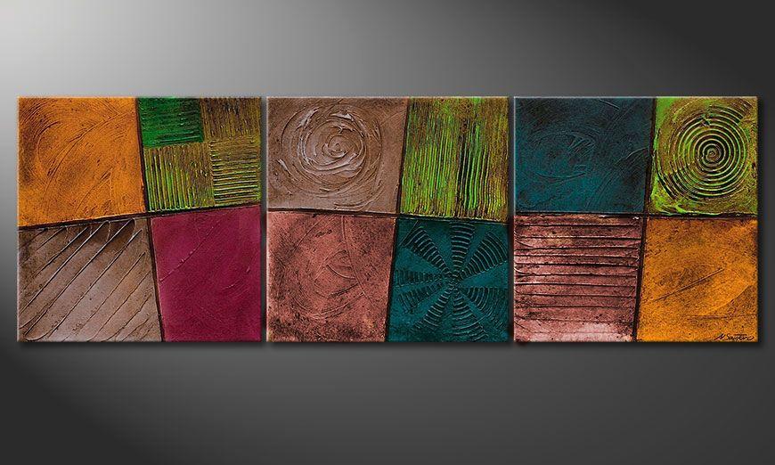 Le beau tableau sur ch ssis facets of life 150x50cm tableaux xxl - Tableaux decoratifs muraux ...
