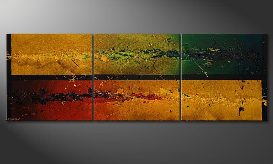 Le grand tableau Blowing Elements 240x80x2cm
