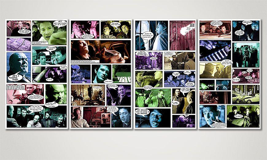 Le tableau Arnaque, Crimes et Botanique 160x70x2cm
