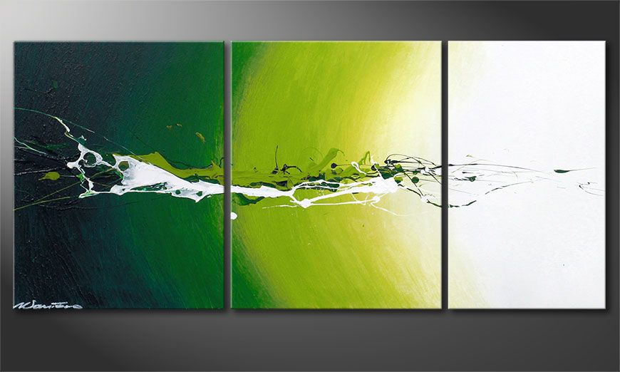 Le tableau abstrait Power of Nature 110x50x2cm