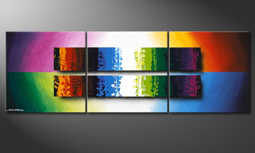Le tableau color expression of colours 150x50cm tableaux xxl - Tableau design colore ...