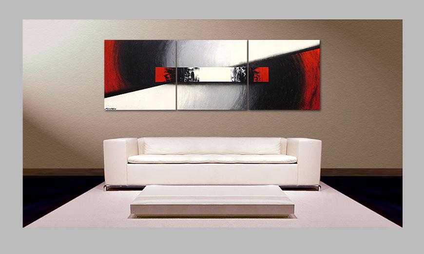 Le tableau de salon awakening of spirit 210x70cm for Tableau de salon