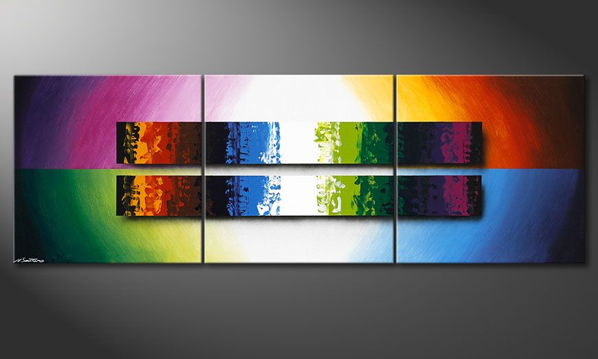 Le tableau de salon expression of colours 210x70cm - Tableau de salon ...