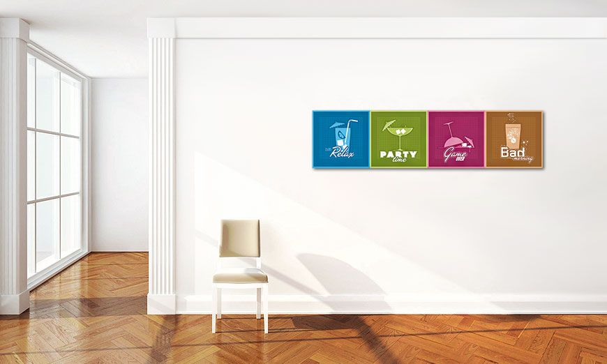 Le tableau moderne All the Drinks 160x40cm