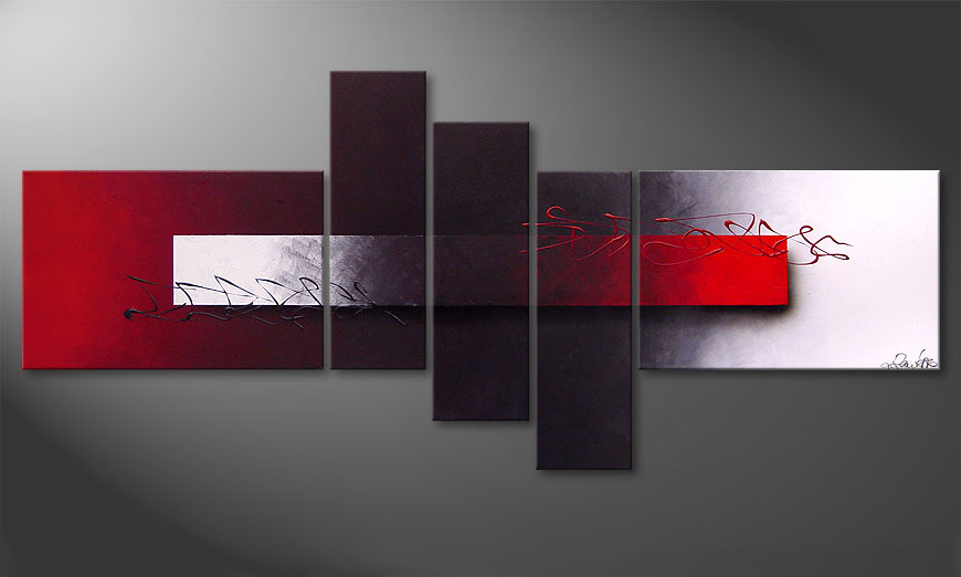Le tableau moderne Opposites Attract 180x80x2cm