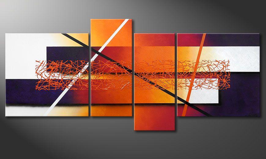 Le tableau mural afterglowing memories 180x80cm tableaux xxl - Tableaux decoratifs muraux ...