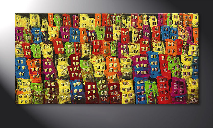 Le tableau mural Beauty of a City 120x60x2cm