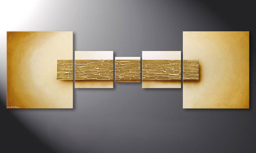 Le tableau mural Broken Gold 180x60x2cm