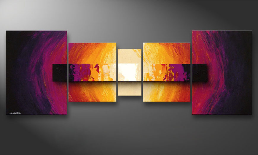 Le tableau mural Catched Afterglow 200x70x2cm