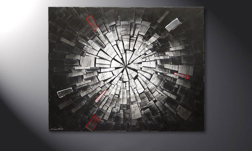 Le tableau mural Center of Light 100x80x2cm