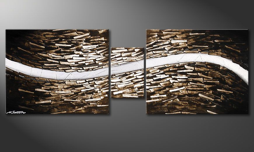 Le tableau mural Clear River 140x50x2cm