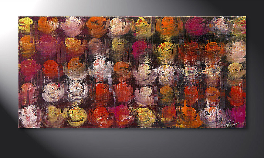 Le tableau mural Colored Roses 120x60x2cm