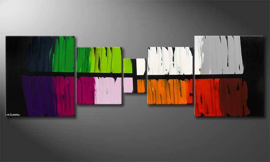 Le tableau mural Colorful Lights 220x70x2cm