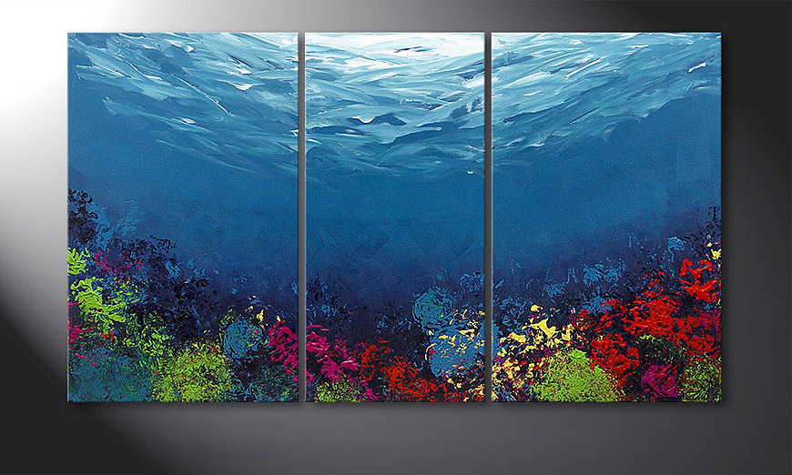 Le tableau mural Coral Garden 140x80x2cm