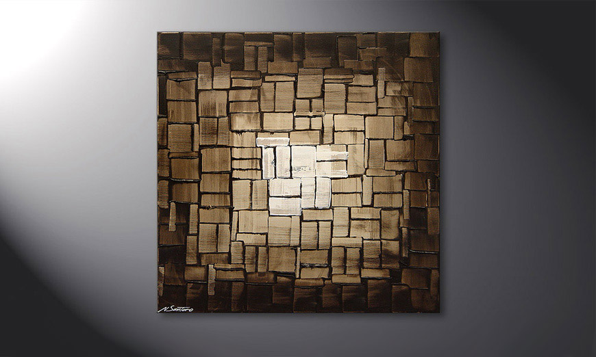 Le tableau mural Cubic Light 80x80x2cm