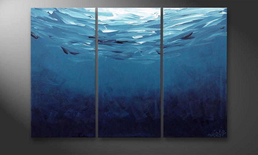 Le tableau mural Deep Blue 120x80x2cm