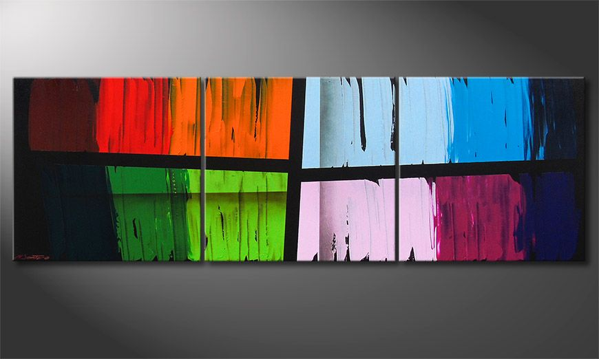 Le tableau mural Disparate Impact 210x70x2cm